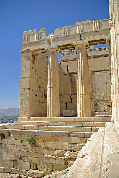 Greece Photograph - The Propylaia In Athens          The Propylaia - Vertical                                    by Rich Walter