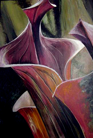 Pitcher Plant Painting - The Pulpit by Day Seriani