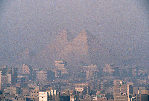 Africa Photograph - The Pyramids At Giza And Cairo by Martin Gray