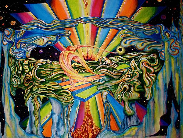 Acrylic Painting - The Quantum Awakening by Ben Christianson