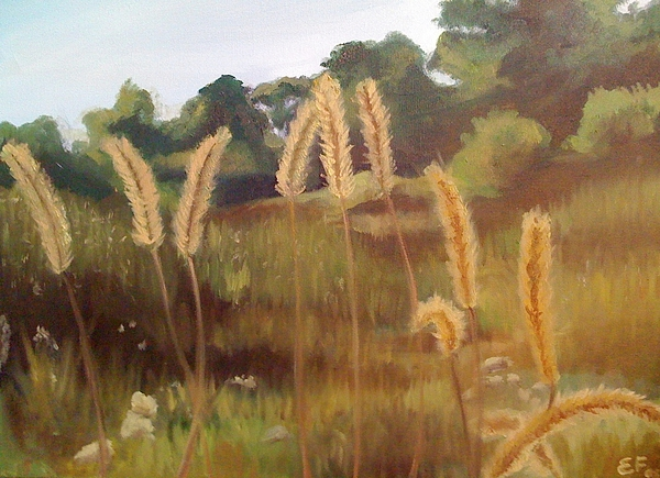 Landscapes Painting - The Quarry  by Emily Jones