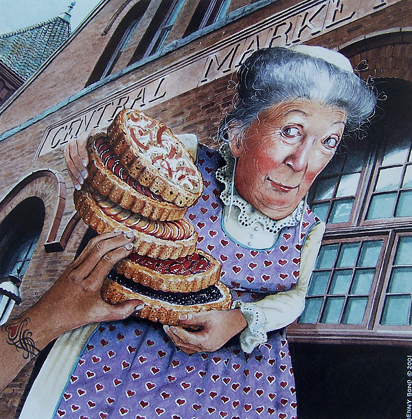 Pies Painting - The Queen Of Hearts by Denny Bond