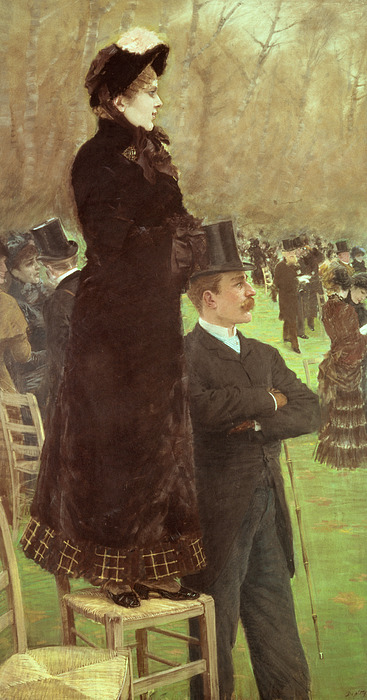The Painting - The Races At Auteuil by Joseph de Nittis