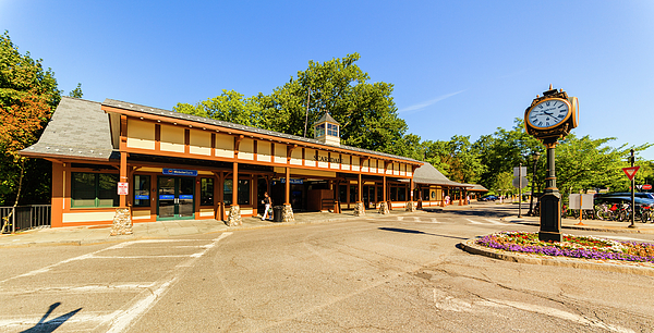 Railroad Station Photograph - The Railroad Station In Scarsdale by Alex Potemkin