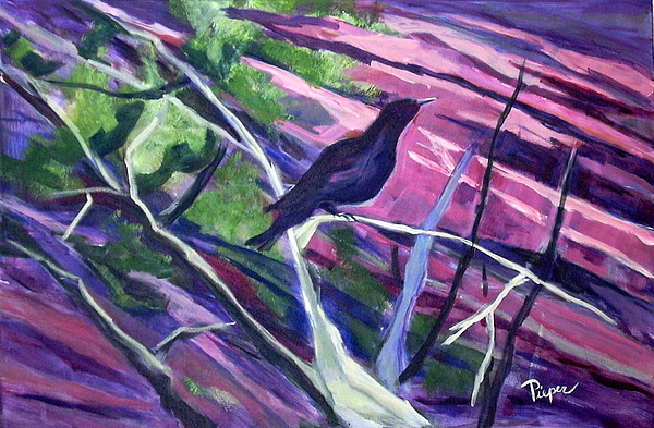 Raven Painting Painting - The Raven by Betty Pieper