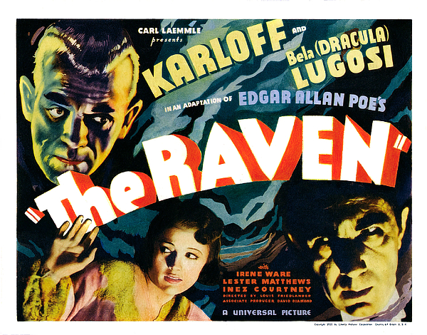 1930s Movies Photograph - The Raven, From Left Boris Karloff by Everett