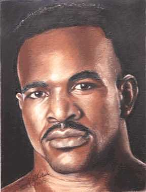 The Real Deal Painting - The Real Deal - Evander Holyfield by Kenneth Kelsoe