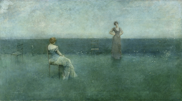 The Painting - The Recitation by Thomas Wilmer Dewing