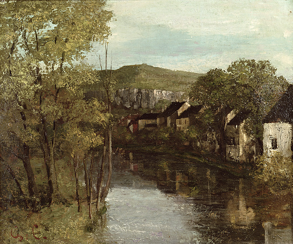 The Painting - The Reflection Of Ornans by Gustave Courbet