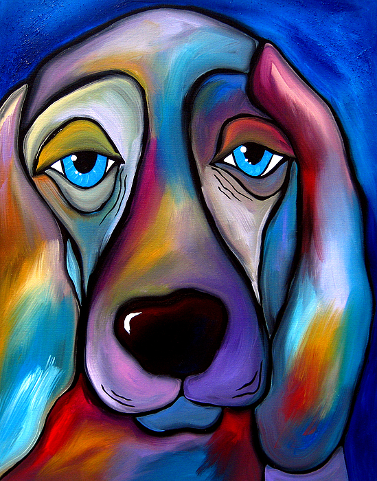 Pop Art Painting - The Regal Beagle - Dog Pop Art By Fidostudio by Tom Fedro - Fidostudio