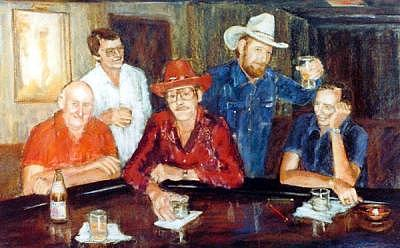 The Regulars Painting by Helen Hickey