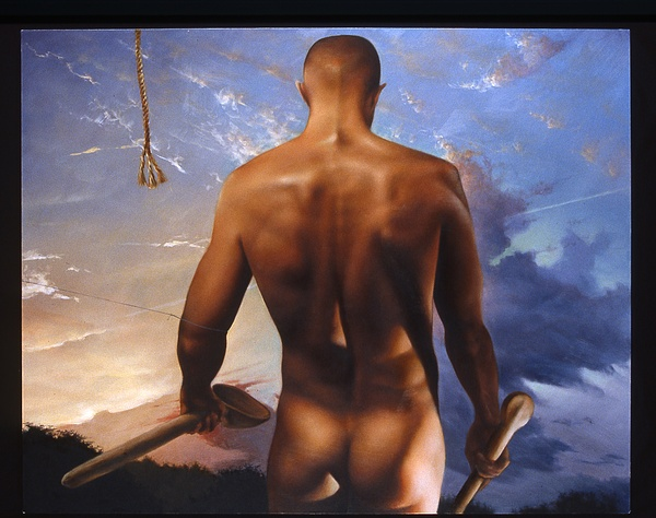 Male Nude Painting - The Renunciation by JT Grant