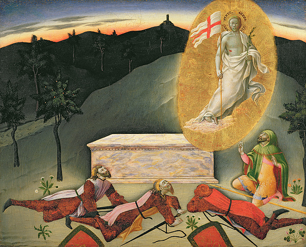 The Painting - The Resurrection by Master of the Osservanza