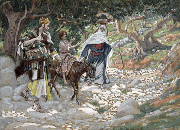 Ass Painting - The Return From Egypt by Tissot