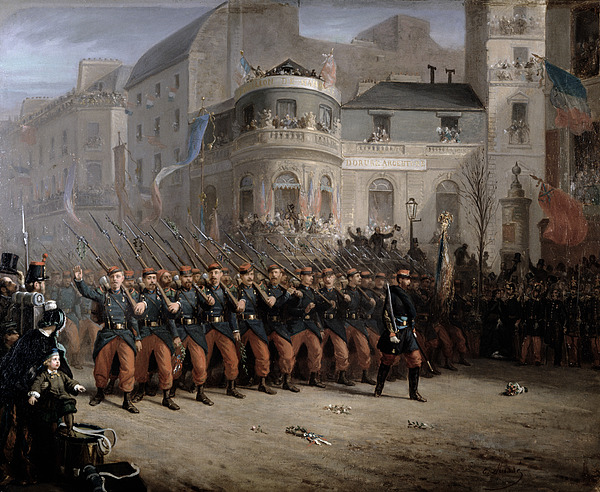 The Painting - The Return Of The Troops To Paris From The Crimea by Emmanuel Masse