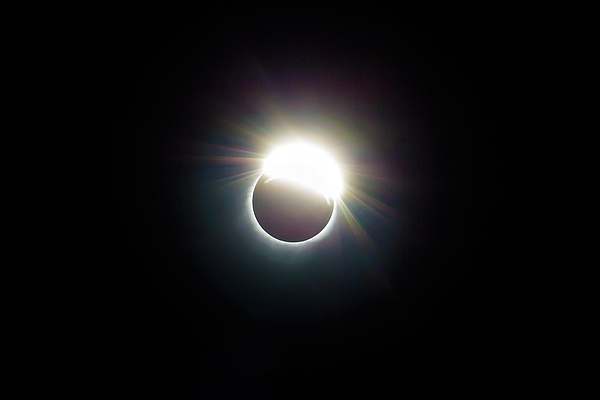 Solar Photograph - The Ring Of 2017 Solar Eclipse by David Gn