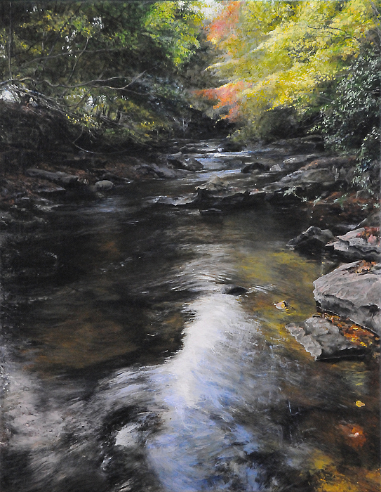 Landscape Painting - The River At Lady Bagots by Harry Robertson