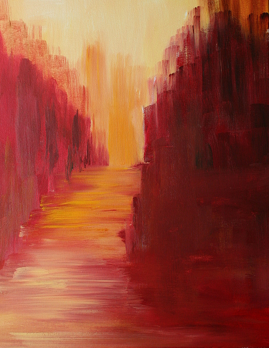 Red Painting - The Ruby Way by Julie Lueders