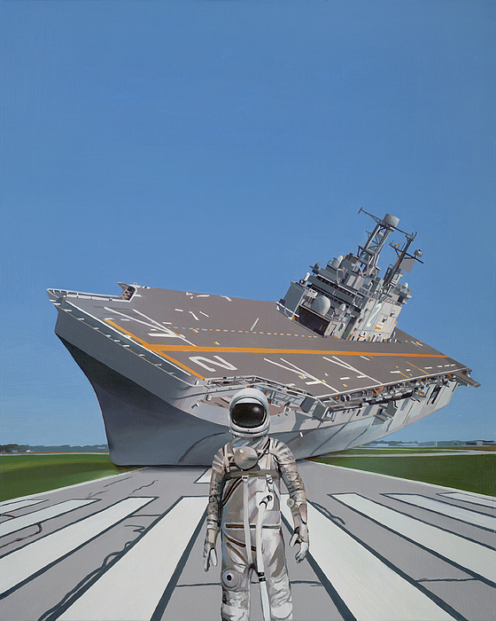 Astronaut Painting - The Runway by Scott Listfield