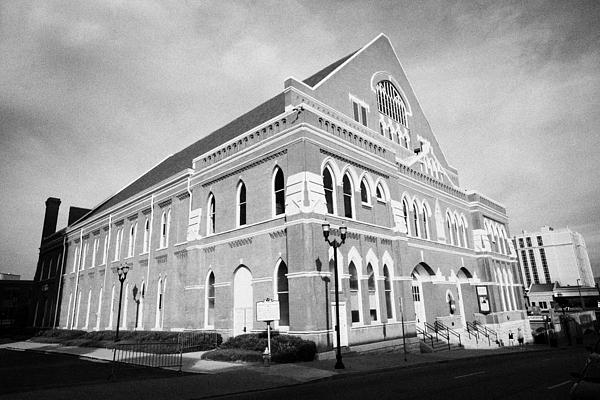 Ryman Photograph - The Ryman Auditorium Former Home Of The Grand Ole Opry And Gospel Union Tabernacle Nashville by Joe Fox