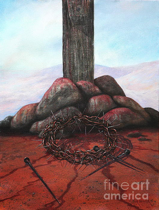 Jesus Painting - The Sacrifice Of His Love by Michael Nowak