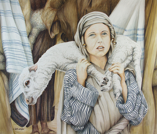 Jesus Drawing - The Sacrifice by Rick Ahlvers