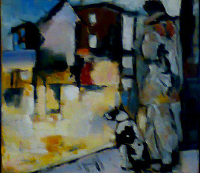 Abstract Figurative Painting - The Same Way by Talal  Ghadban