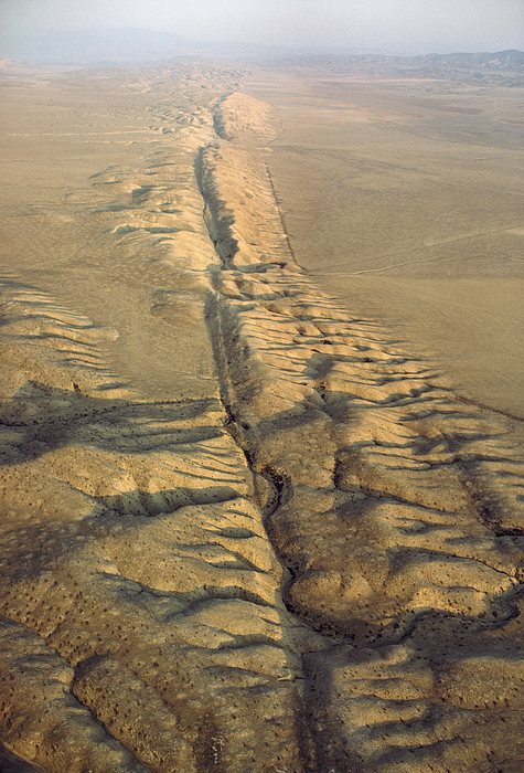 North America Photograph - The San Andreas Fault Slashes by James P. Blair