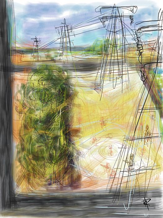 Field Digital Art - The Sandlot by Russell Pierce