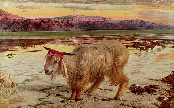 The Scapegoat Painting - The Scapegoat by William Holman Hunt