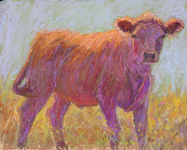 Cows Painting - The Scout by Susan Williamson