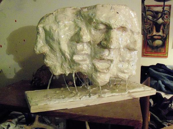Plaster Sculpture - The Scream by John Baker