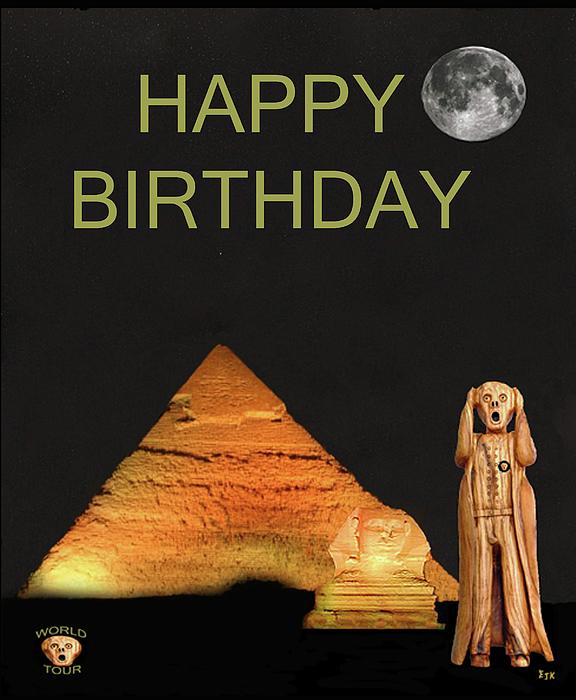 The Scream World Tour Egypt Happy Birthday Mixed Media by Eric Kempson – Egyptian Birthday Cards