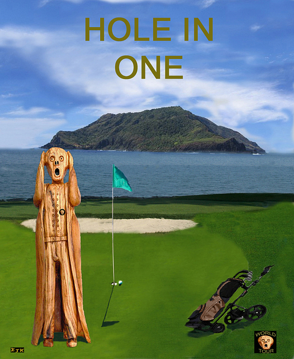 Scream World Tour Mixed Media - The Scream World Tour Golf  Hole In One by Eric Kempson