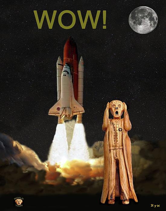 The Scream World Tour Space Shuttle Mixed Media - The Scream World Tour Space Shuttle Wow by Eric Kempson