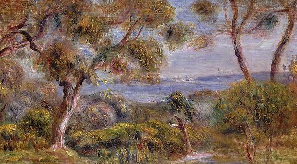 Pierre Auguste Renoir Painting - The Sea At Cagnes by Pierre Auguste Renoir
