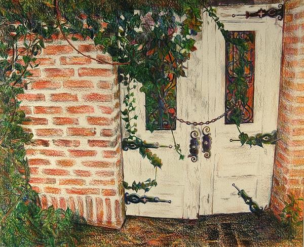 Doors Drawing - The Secret Garden by Lois Guthridge