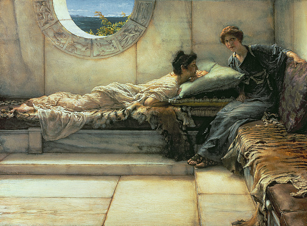 The Painting - The Secret by Sir Lawrence Alma-Tadema