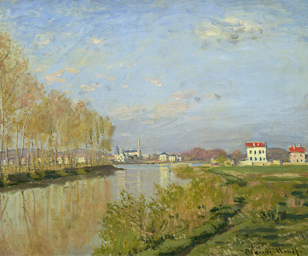 The Painting - The Seine At Argenteuil by Claude Monet