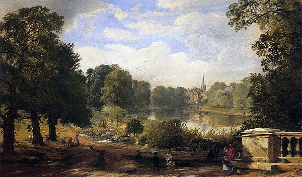 Jasper Francis Cropsey Painting - The Serpentine by Jasper Francis Cropsey
