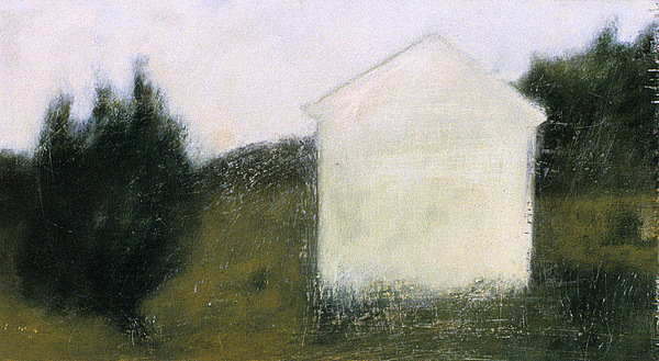 Landscape Painting - The Shed by Ruth Sharton