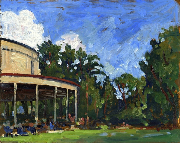Landscape- Painting - The Shed Tanglewood by Thor Wickstrom