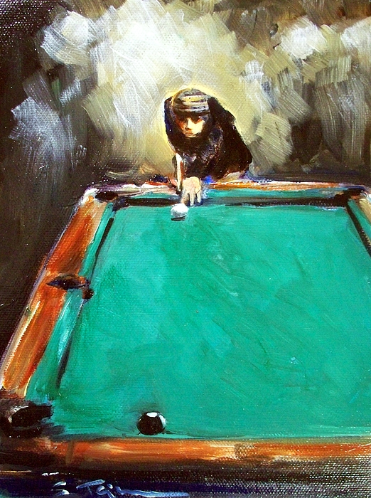 Pool Painting - The Shot by Sheila Tajima