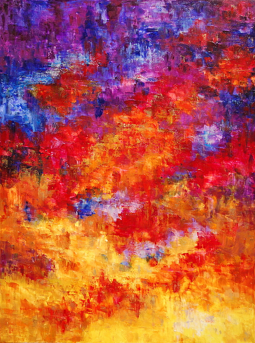 Abstract Painting - The Skys The Limit by Deborah Gall
