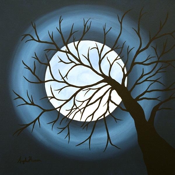 Moon Painting - The Sleeping by Angela Hansen