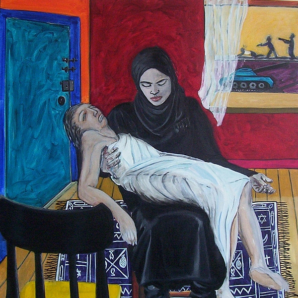 Pieta Painting - The Slutsky Pieta by Erik Slutsky