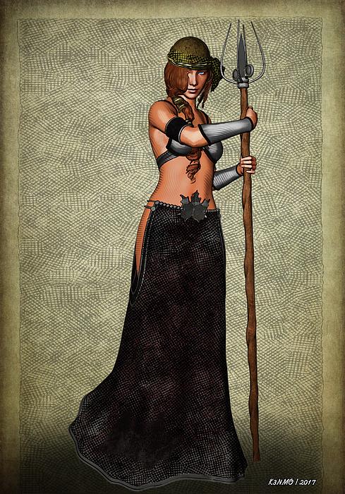 Fantasy Digital Art - The Sorceress Mage by Ken Morris