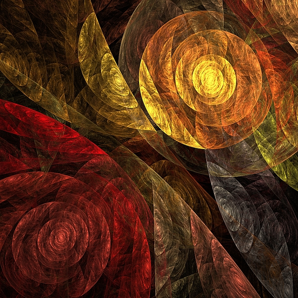 The Painting - The Spiral Of Life by Oni H