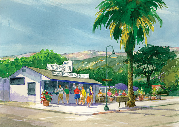 Carpinteria Painting - The Spot by Ray Cole
