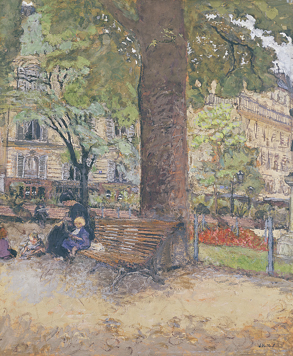 The Painting - The Square At Vintimille by Edouard Vuillard